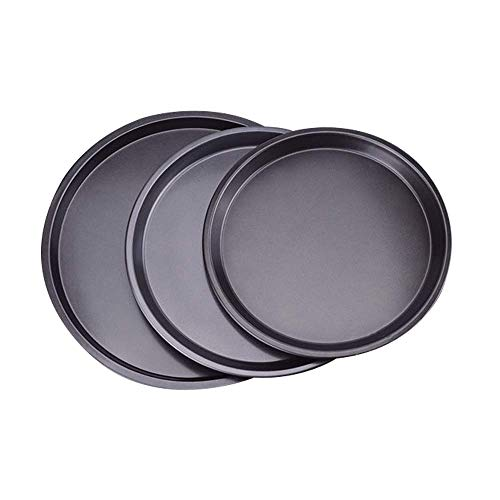 Set of 3 Pizza Pan Non-Stick Pizza Pan Trays Stainless Steel for Oven Baking,9/10/12 inch