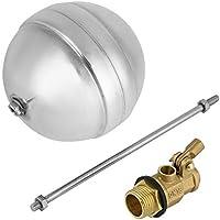 DN15 G1/2 Conexión de rosca macho de latón Sensor de agua Válvula de bola de flotador ajustable para purificadores de agua de acuario Sistema de ósmosis inversa