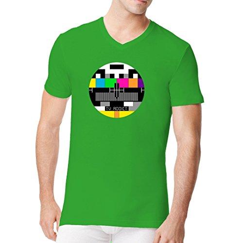 Im-Shirt - Testbild - Fernsehsüchtig cooles Fun Men V-Neck - verschiedene Farben Kelly Green