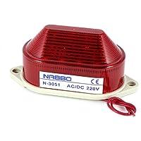 sourcing map Luz de Advertencia de la lámpara de la Torre LED Rojo Industrial AC 220V Indicador de Flash estroboscópico