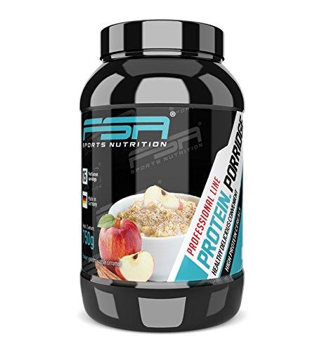 Porridge mit Proteinpulver und glutenfreien Haferflocken für leckeren Frühstücksbrei - Made in Germany - FSA Nutrition - 750 g - Grandma´s Apple Cinnamon -