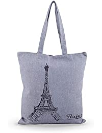 Shoppertize Latest Multipurpose Tote Bag, Designer Tote Bag, Tote Bag For College Girls, Tote Bag For Women- Paris...