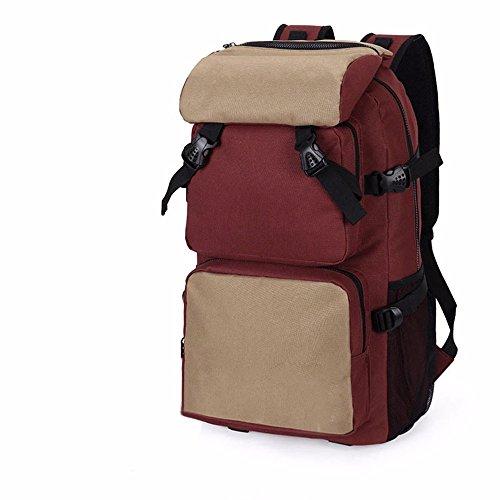 TBB-Zaino borsa a tracolla impermeabile capacità grande borsa da viaggio,Kaki grandi Coffee Large