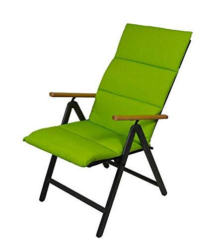 Spetebo Polster Auflage für Hochlehner - Sitzkissen in grün - Gartenstuhlauflage Stuhlkissen