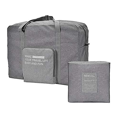 Calvinbi Damen Herren Gefaltet Gepäcktasche Reisetasche Handgepäck Gefaltet Verdicken Leichte Wasserdicht Luggage Aufbewahrungstasche Baumwolle und Leinen Große Kapazität