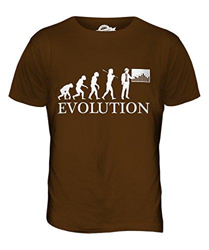 CandyMix Baumanagement Bauleiter Evolution Des Menschen Herren T Shirt Braun