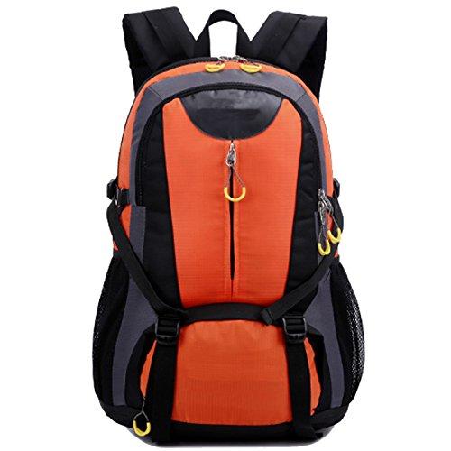 Beruf Unisex Klettern Hohe Kapazität Erweitert Version Wandern Camping Tourismus Wasserdicht Nylon Rucksack Orange