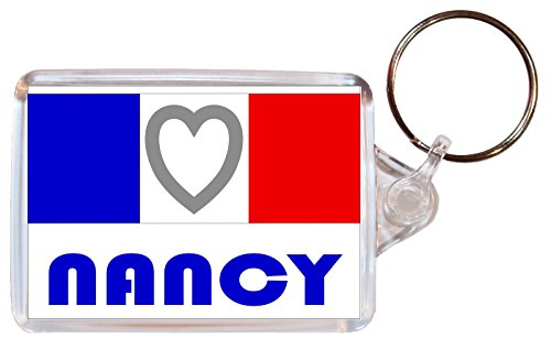 Nancy - Love France/French Towns & Cities Flag - Double Sided Large Keyring Souvenir/Gift/Present