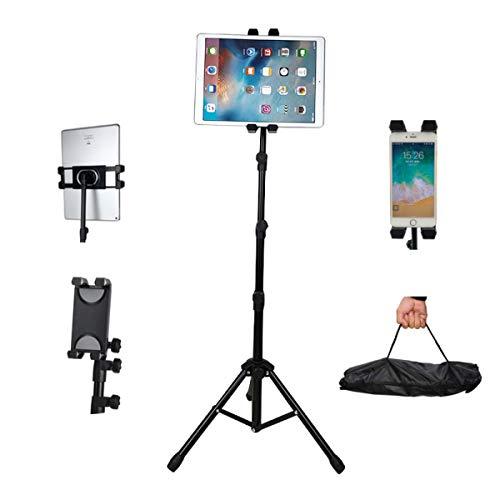Verstellbarer Ständer für Tablets mit 11,9 cm - 13 Zoll iPhone iPad Mini, iPad Air, iPad 1, 2, 3, 4, iPad Pro, kompatibel mit Allen 4,7-12 Zoll Handys und Tablets, bis zu 130 cm Höhe Telefonständer -