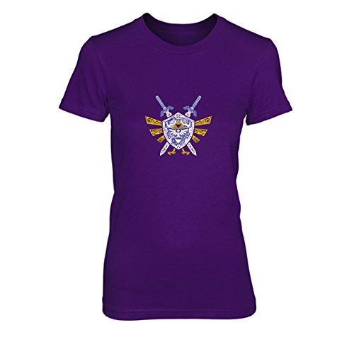 Link Elements - Damen T-Shirt, Größe: XL, Farbe: lila