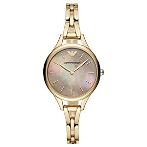 Emporio Armani Reloj Analógico para Mujer de Cuarzo con Correa en Acero