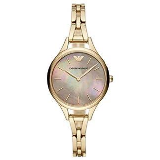 Emporio Armani Reloj Analógico para Mujer de Cuarzo con Correa en Acero Inoxidable AR11140