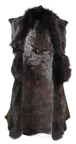 Gilet pour femme marron cuir véritable peau de mouton de toscane Espagne Marron