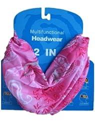 Braga para el cuello, pañuelo de microfibra multifunción, diseño color de rosa cachemir paisley