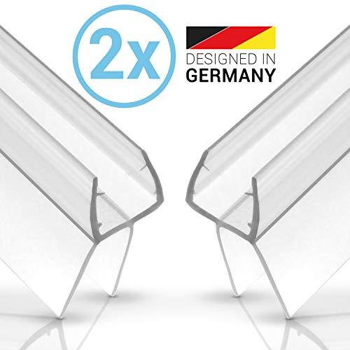 Balder 2 x 100cm Universal Premium Duschdichtung [Doppelpack] - Ideale Dichtung für 6mm, 7mm und 8mm Glastür - Langlebige Duschkabinen Gummilippe - Einfach zuschneidbarer Schwallschutz -