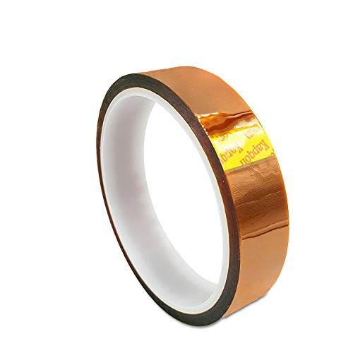 Cinta de alta temperatura de dedo de oro Cinta de poliimida Pi Soldadura Reparación resistente al calor Cinta de aislamiento fija (color: marrón, tamaño: 0.055 mm × 0.5 cm × 1 rollos)