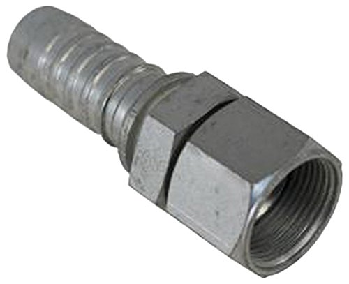 Female Swivel 0.5 (Gates 8GS-10FJX GlobalSpiral Couplings, Female JIC 37° Flare Swivel, Zinc Plated Carbon Steel, 2.99