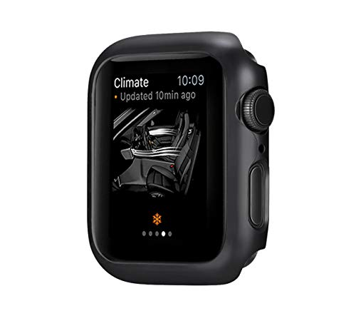 jemous Compatible con Cover per Apple Watch Series 4 44mm/40mm iWatch PC Plated Metal Bumper Protettivo Cover Custodia per Apple...