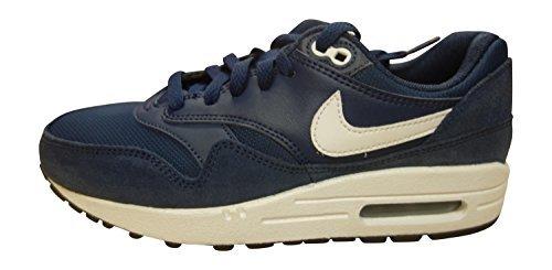 Nike Air Max 1 (GS), Unisex Kinder Hohe Sneakers, Midnight Navy White Black 410 - Größe: 38,5 EU (Jordan 29 Jungen Schuhe)