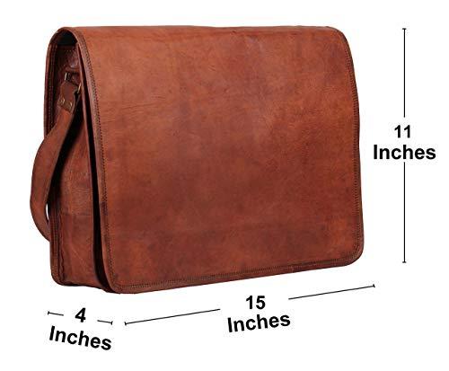 """Leder Messenger Bag 15""""Leder volle Klappe Laptop Tasche Eco freundliche Ledertasche"""