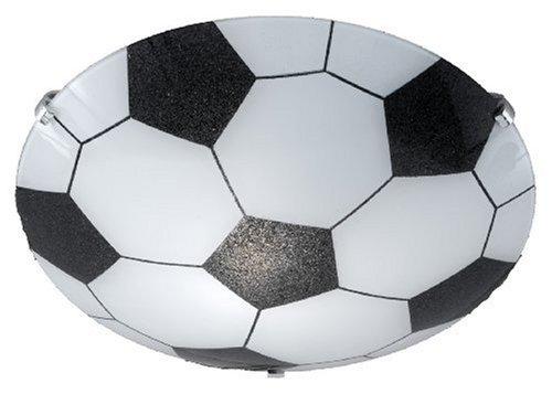 Trio-Leuchten 6160011-00 Deckenleuchte -Fussball- 1xE27 max. 60W D:30cm Glas opal weiß/schwarz -