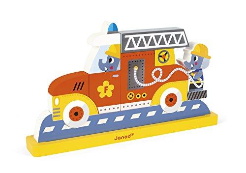Janod PUZLE Vertical MAGNÉTICO Bomberos Kit de imanes Taxi (j05217), Juratoys J08027