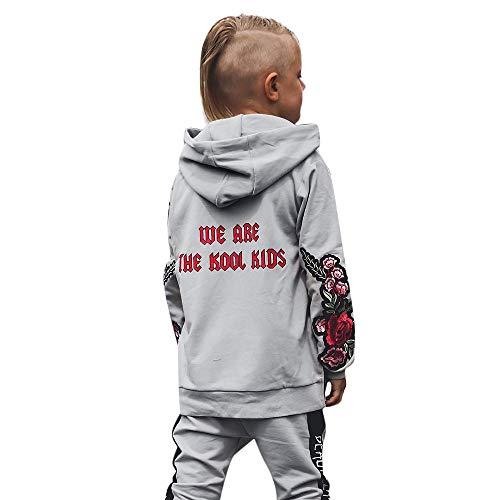 Baby Langarmshirt Junge Mädchen floral Brief drucken oben Einfarbig bestickter Pullover Normaler Mantel Straßentanz Kostüm Cooles Taschen Sweatshirt Baumwoll Komfort T-Shirt babymodekinderbekleidung