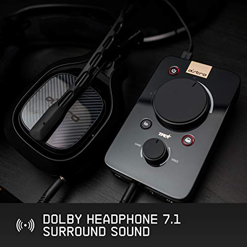 ASTRO Gaming MixAmp Pro TR with Dolby 7.1 Surround Sound, Compatible with PlayStation 4, PC, Mac, Black