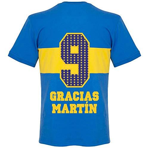 1960's Boca Juniors Retro Trikot + Gracias Martin 9 (Special Edition Printing) - S
