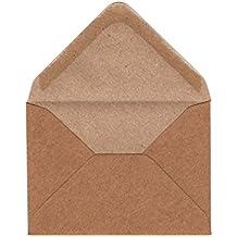 C5C7Kraft–Caja de 250sobres, 100g/m²–para pequeñas A7tarjetas de felicitación, invitaciones de boda, correspondencia, color marrón