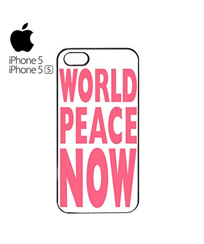 World Peace Now Light Pink Peace Van Car Mobile Phone Case Cover iPhone 6 Plus + White Blanc