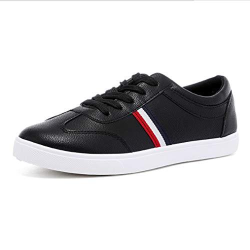 Generic Herren Skateboard Schuhe Komfortable Schnürschuhe Flache wasserdichte und atmungsaktive Sneakers (Tennis Herren Schuhe Verkauf)