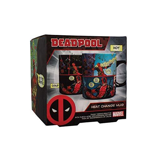 Marvel Thermoeffekt-Tasse Deadpool schwarz, bedruckt, aus 100% Keramik, Fassungsvermögen ca. 315 ml.