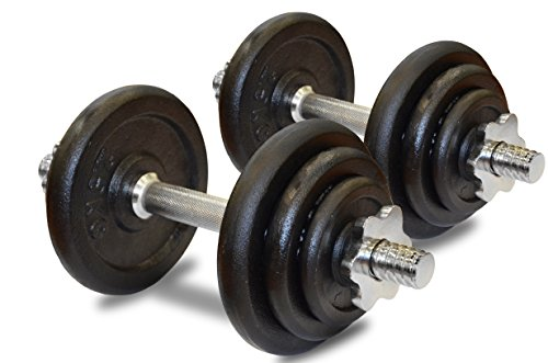 JLL® 20kg Cast Iron Dumbbell Set