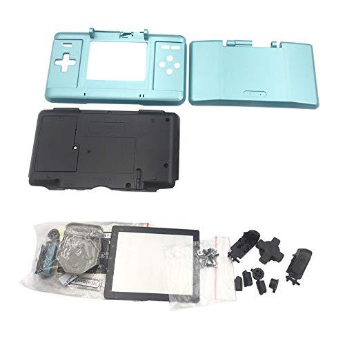 Haodasi Ersetzen Front Zurück Case Shell CoverGehäuse mit Knopf Schrauben Bildschirm Aufkleber Eingabestift für Nintendo DS Spiel Konsole (Hellblau)