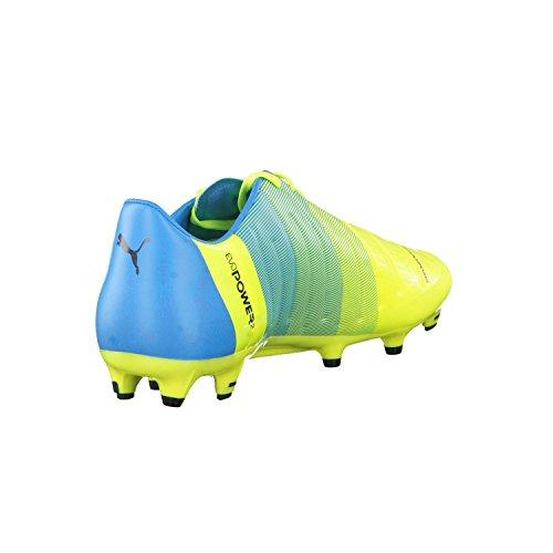 Puma Evopower 2.3 Fg, Chaussures de football homme safety yellow-black-atomic blue 01