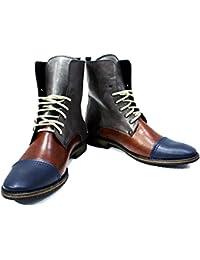 a5ba349b29c8 PeppeShoes Modello Palazzo - Handgemachtes Italienisch Leder Herren Bunt  Hohe Stiefel - Rindsleder Weiches Leder -
