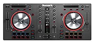 Numark Mixtrack 3 - All-In-One 2-Deck DJ Controller for Serato DJ Including an Long-Throw Pitch Faders, 5-inch High Resolution Jog Wheels and Virtual DJ LE & Prime Loops Remix Tool Kit