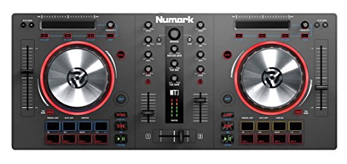 Numark  2 Deck DJ Controller ohne Audio I/O + Virtual DJ LE & Prime Loop Remix Tool Kit, Grau