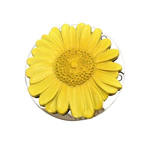 Geldbörse Haken Sonnenblume Faltbare Handtasche Aufhänger Haken Halterung für Tabellen. gelb - Aufhänger Tabelle Handtasche