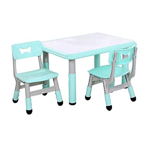 XUERUI Tische Esstische Tischstühle Set, Kindermöbel Kleinkind, Höhenverstellbarer Schreibtisch Spielen Studieren Schlafzimmer Spielzimmer Kindergarten Campingtische - Ende Beistelltisch