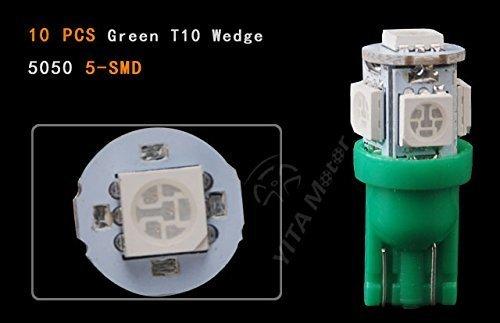 ETbotu Lot DE 20 Vives Vert Wedge T10 5-SMD 5050 LED Lampe W5 W 192 168 194 2825 12 V pour véhicule de Voiture