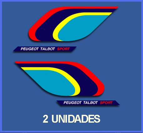 Autocollant Peugeot - PEGATINAS STICKERS RALLY PEUGEOT SPORT DP482 RALLYE