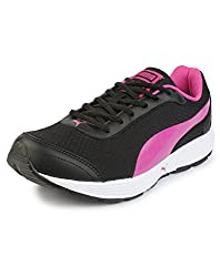 Puma Womens Reef Wns Dp Black and Rose Violet Running Shoes - 6 UK/India (39 EU)