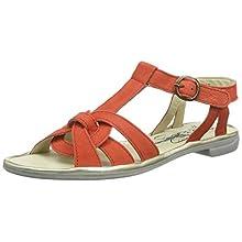 Fly London Women's COGE166FLY T-Bar Sandals, Red (Devil Red/Gold 003), 5 UK 38 EU