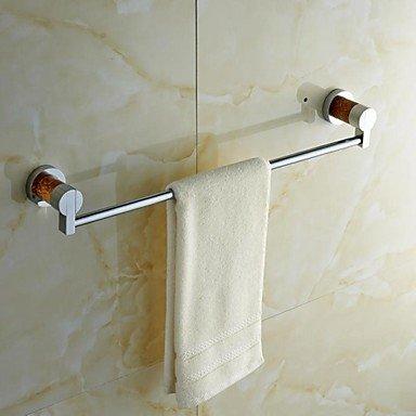 MARMOL NATURAL SOLIDO LATON CROMADO FINSH TOWEL BAR