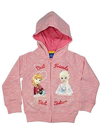 Frozen Official Girls Hoodies 4Years Pink