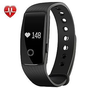 Fitness tracker, Mpow Smart Bracelet tracker d'activité moniteur de fréquence cardiaque Fitness Health Smartwatch Bracelet Bluetooth podomètre avec moniteur de sommeil/Step tracker/compteur de calories pour Android et iOS smartphones