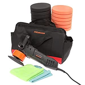 AUCUNE - Kit Polisher double action - 12 tampons - 2 microfibres