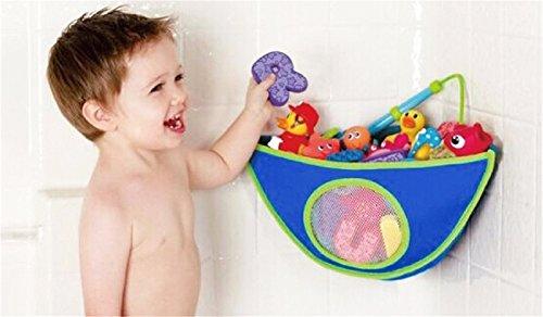 Imagen para BrilliantDay El mejor bolso para el organizador del cuarto de baño, almacenaje superior del juguete de la bañera con 6 tazas de succión resistentes #2